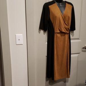 Black/ Brown suede Dress